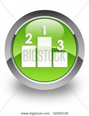 Podium glossy icon