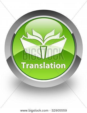 Icono brillante traducción