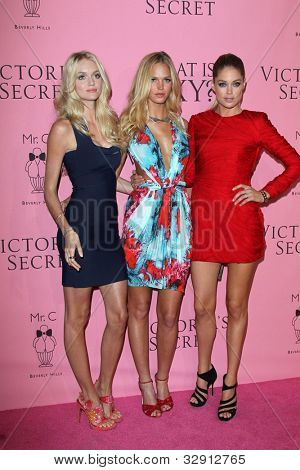 LOS ANGELES - MAY 10:  Lindsay Ellingson, Erin Heatherton and Doutzen Kroes arrives at the Victoria's Secret What Is Sexy? Party at Mr. C Beverly Hills on May 10, 2012 in Beverly Hills, CA
