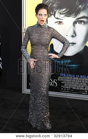 HOLLYWOOD, CA. - MAY 7: Eva Green arrives at Warner Bros. Pictures World Premiere of 'Dark Shadows' on May 7, 2012 at Graumans Chinese Theatre in Hollywood, Ca.