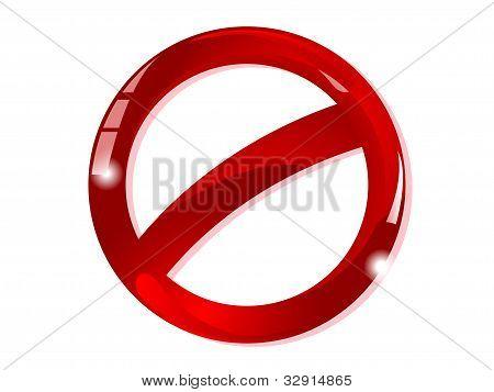 Blank Ban Sign