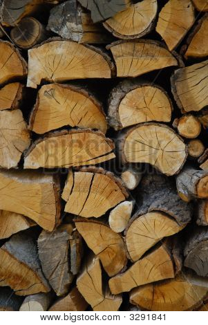 Chopped Logs In A Pile
