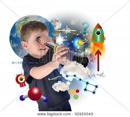 Junge Wissenschaft zu erforschen und lernen Raum