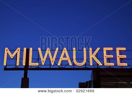 Red Milwaukee Sign