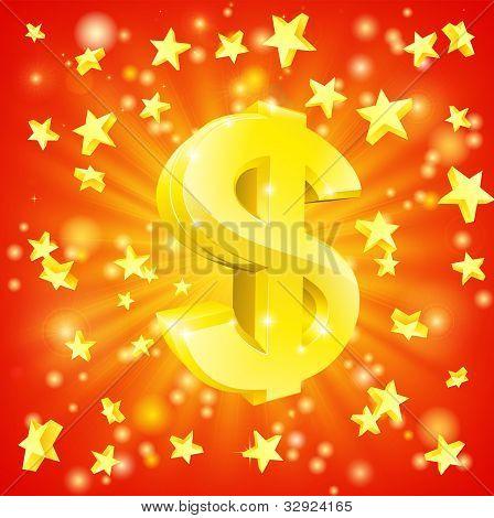 Dollar Money Star Concept