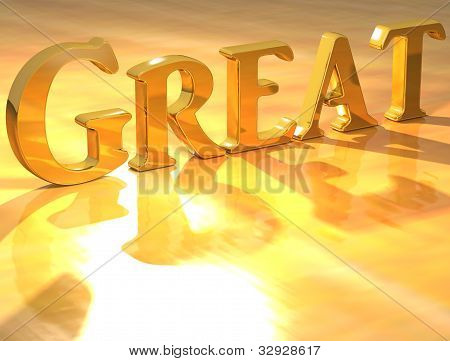 3D Great Gold Text