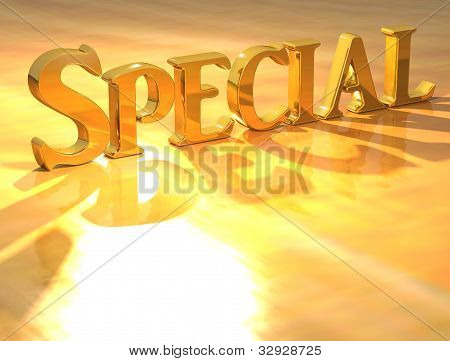 3D Special Gold Text
