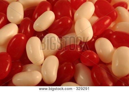 Red And White Jelly Beans