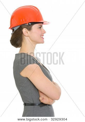Modern Architect Woman Looking Sideways