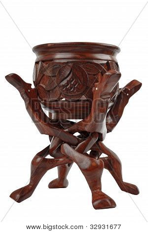 Wooden unity carving and bowl