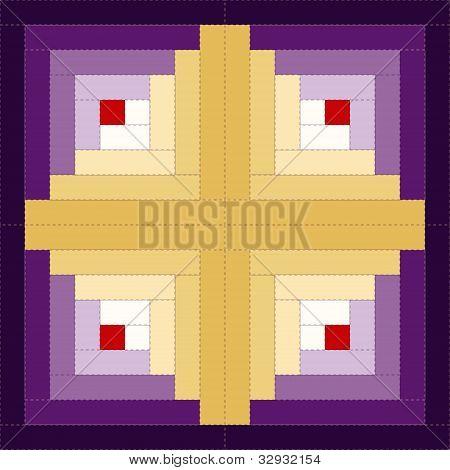 Quilt, Log Cabin Pattern, Barn Raising Design