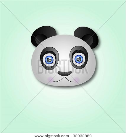 Panda Vector Cartoon Illustration