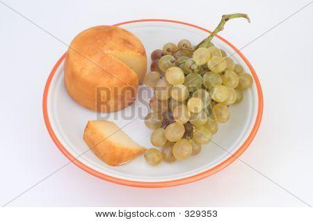 Grapes & Cheese Tastes Of Kiss