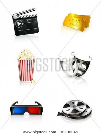 Film, icon set bitmap copy