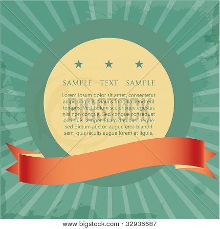 vintage sign and banner with place for your text