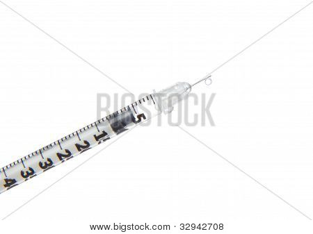 Syringe Insulin Ready For Injection