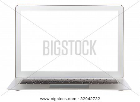 Modern Popular Laptop Keyboard With White Screen