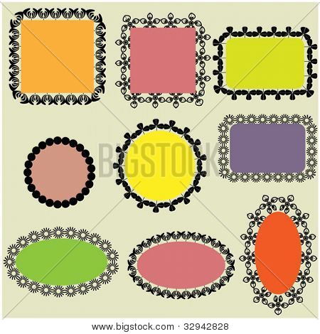 art sketching paper speech bubbles vector