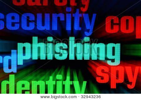 Phishing und Spion-Konzept