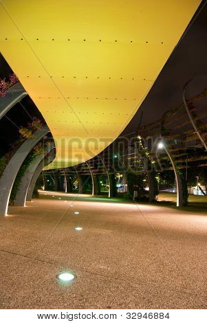Brisbane City - Southbank en la noche - Queensland - Australia