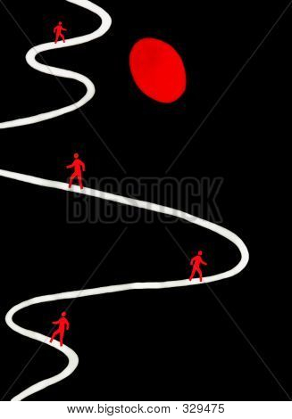 Abstract Photo Of Winding Curving Path Of Life, Signs And Symbol