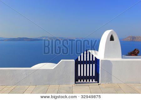 Puerta al mar - isla de Santorini