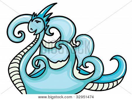 Beautiful water dragon