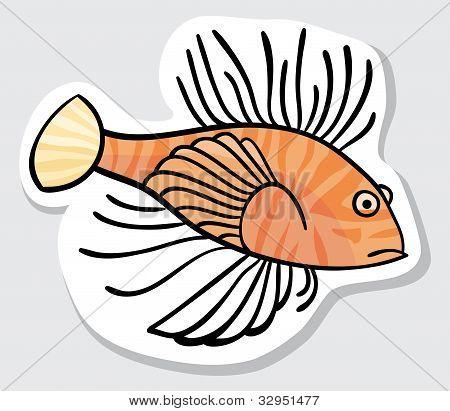 Vector color fish