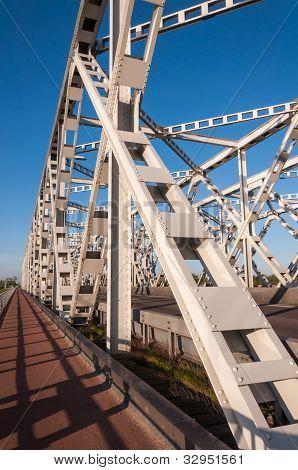 Part of an old Dutch truss bridge