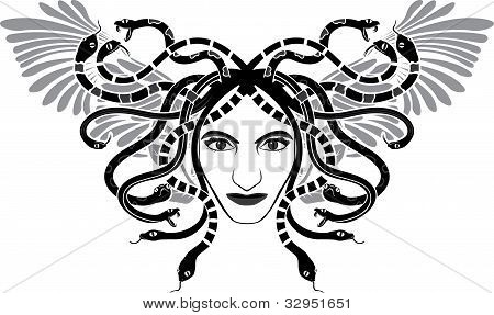 Medusa With Wings.eps