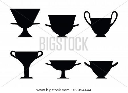 Ancient Greek vaze silhouettes