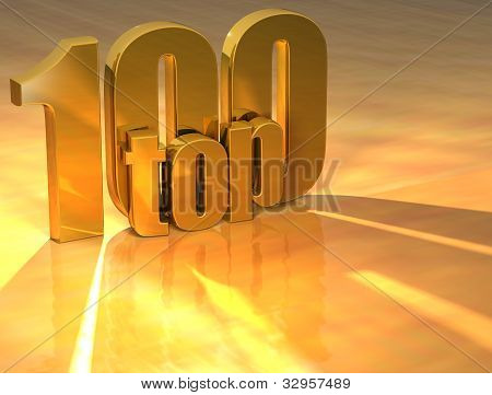 3D Top 100 Gold Text