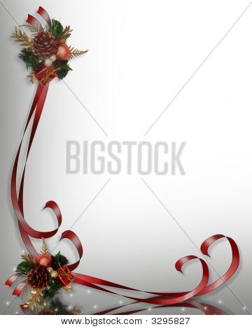 Christmas Border Frame Illustration With Sparkles