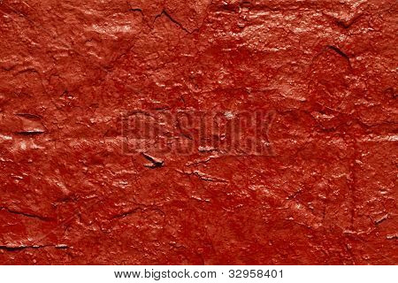 Piece of red wall