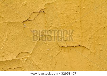 Piece of yellow wall
