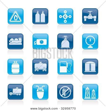 Natural gas objects and icons