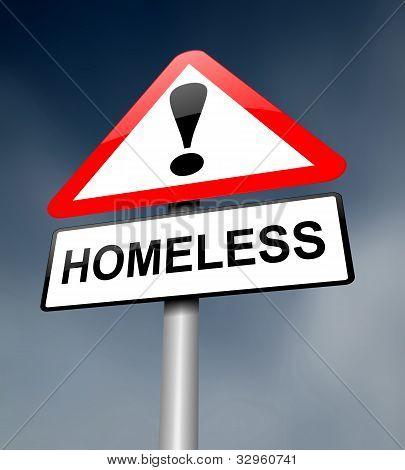 Obdachlose-Konzept.