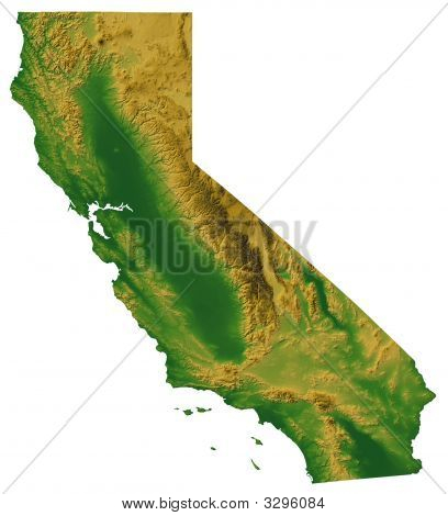 California Map With Terrain
