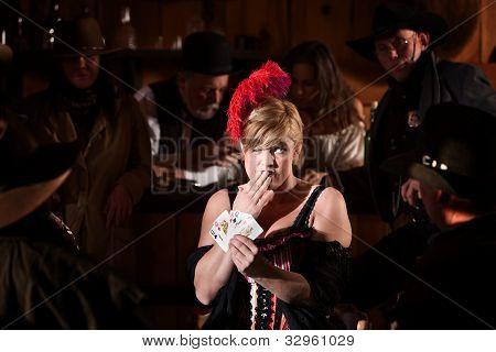 Woman Cheating At Poker