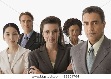 Portrait of multi-ethnic businesspeople