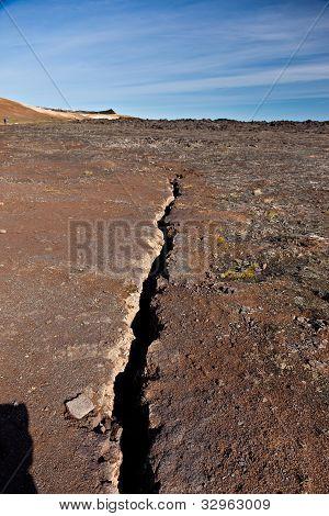 Earthquake Fissure Line