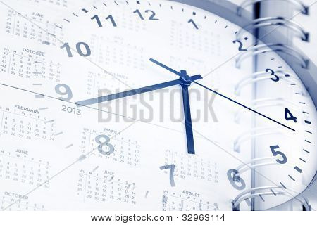Clock and diary page dates
