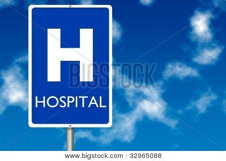 Hospital Board Traffic Sign
