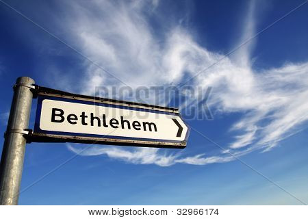 Bethlehem Road Sign