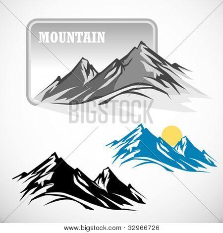 ABSTRACT HIGH MOUNTAIN ICON SET