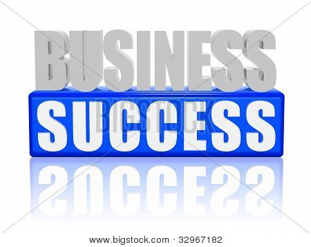 Business Success - Letters And Block