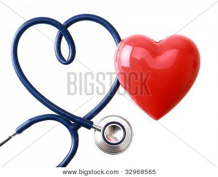 A stethoscope in the shape of a heart