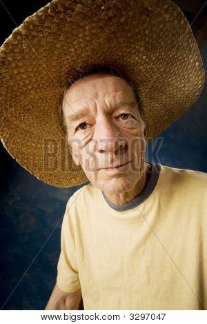 Man In A Big Straw Hat