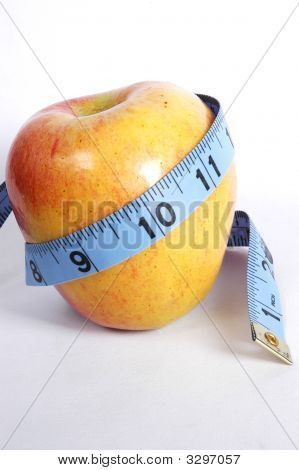 Apple Wrapped In Tape Measure