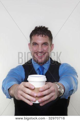 Businessman Wearing A Shirt And Waist Coat